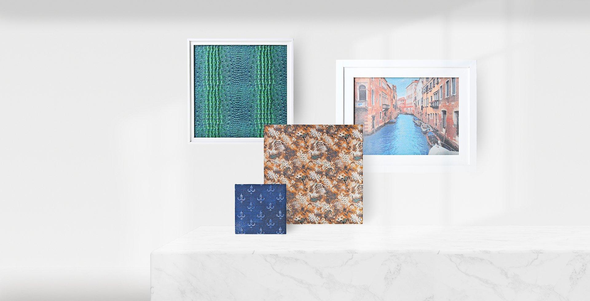 印象派︱壓紋緹花梭織布 Impressionism|Coated & Textured Jacquard Woven fabric